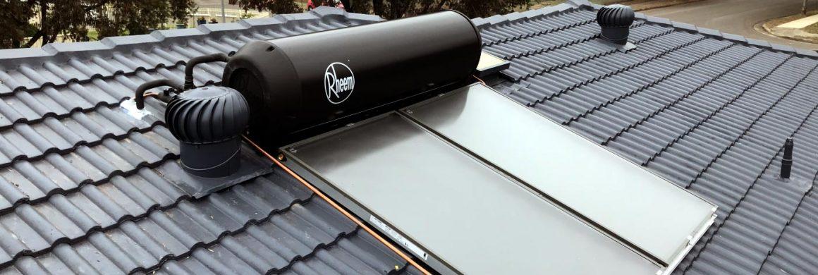 solar hot water service header